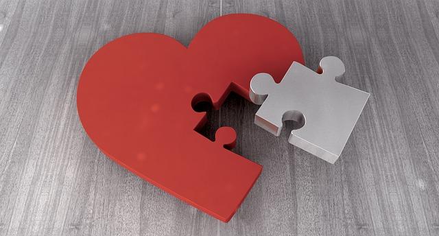 srdce z puzzle