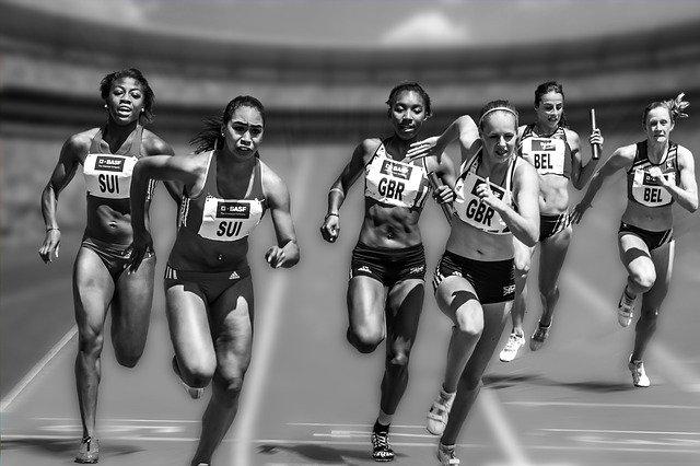 soustředění při běhu
