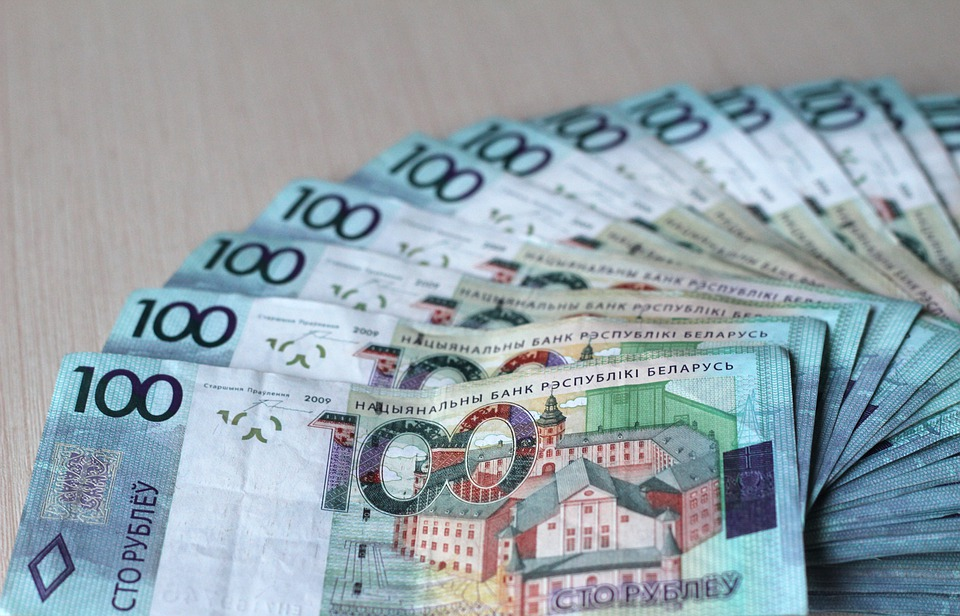 vějíř bankovek